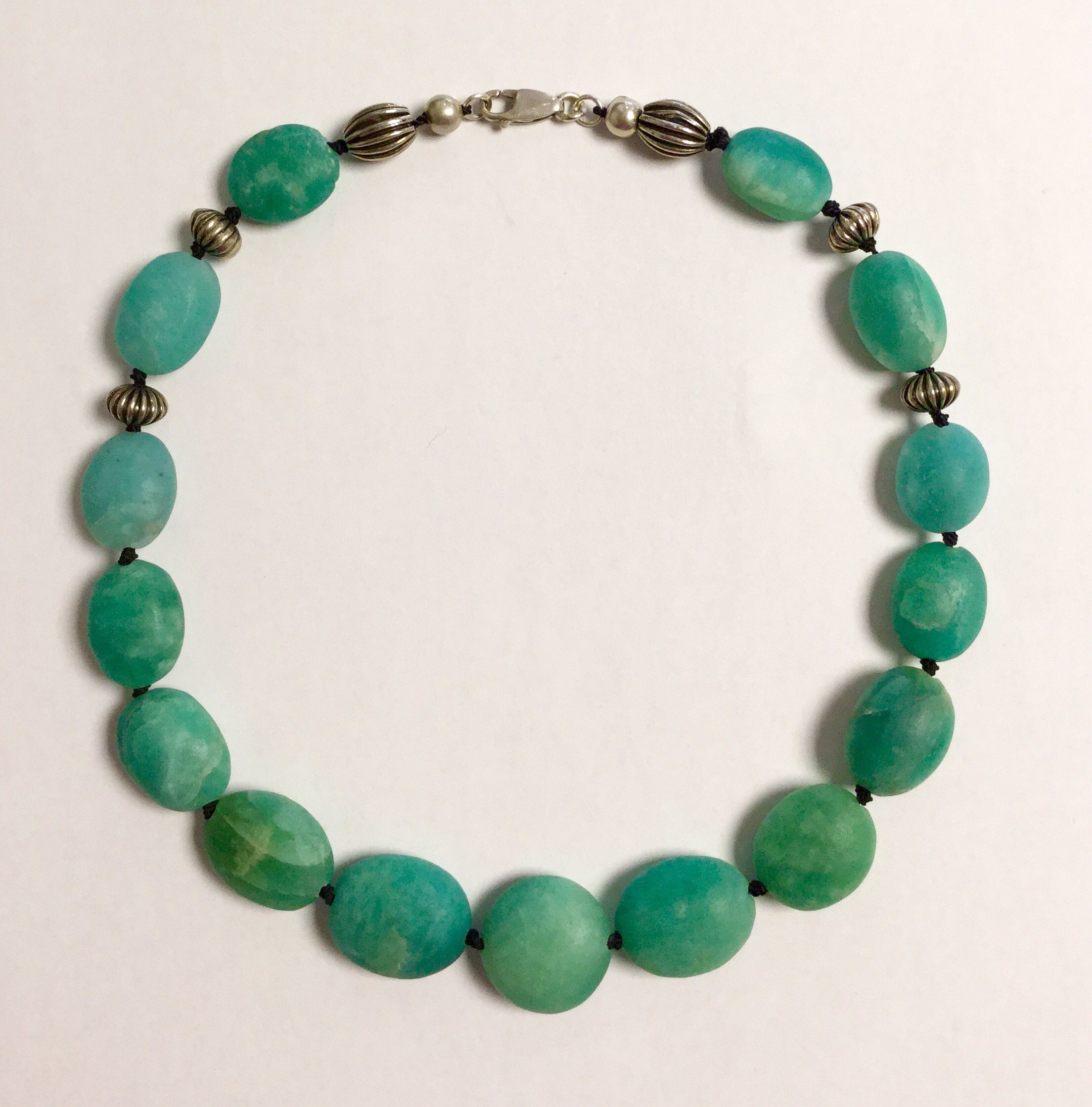 gemstone amazonite product img mala tje design diffuser necklace studio